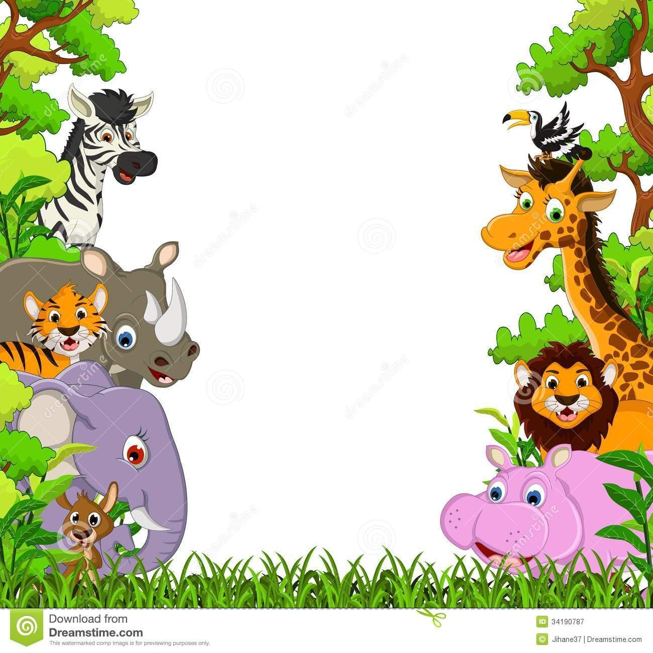 Image for Free Jungle Animal Clipart Cartoon Images Cute Animal .