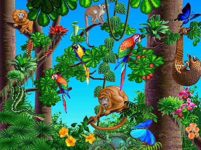 Jungle scene clipart kid 2
