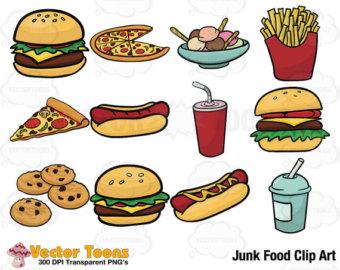 Junk Food Clip Art, Digital Clipart, Dig-Junk Food Clip Art, Digital Clipart, Digital Graphics-7