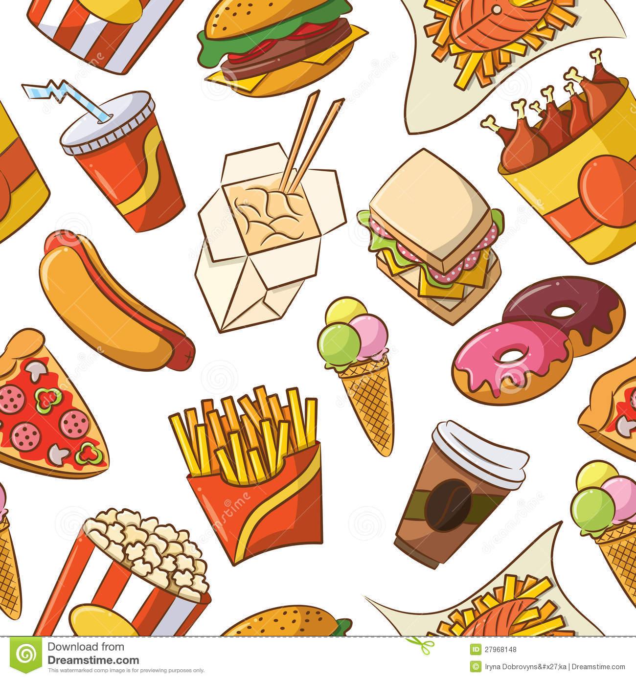 Junk Food Seamless Pattern-Junk Food Seamless Pattern-14