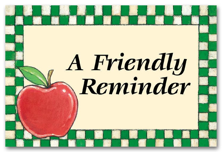 Just A Friendly Reminders .-Just A Friendly Reminders .-14