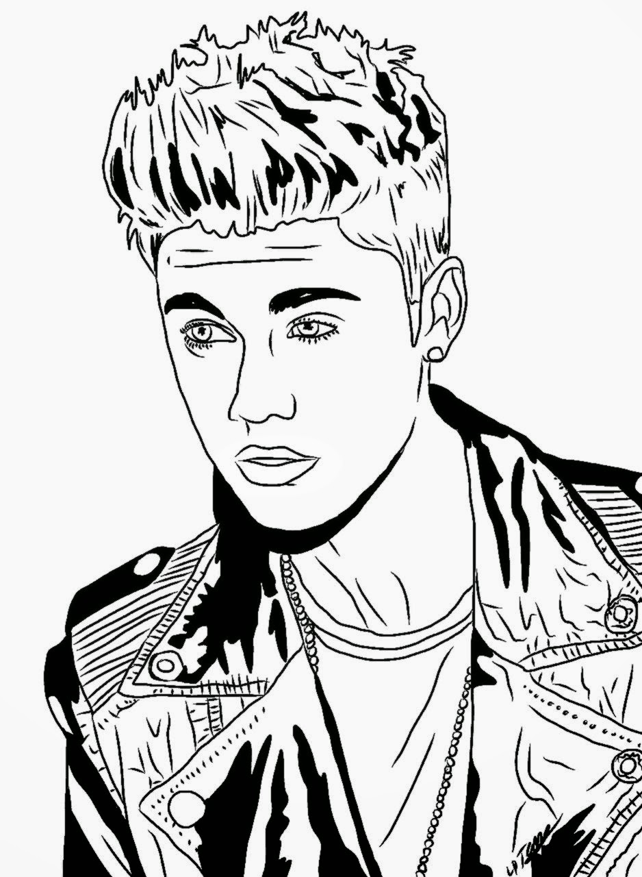 Justin Bieber Coloring Pages To Print Fo-Justin Bieber Coloring Pages To Print For Free 300x300jpg-10