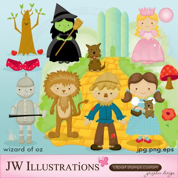 JW Illustrations - Wizard of Oz Clip Art. jwillustrations