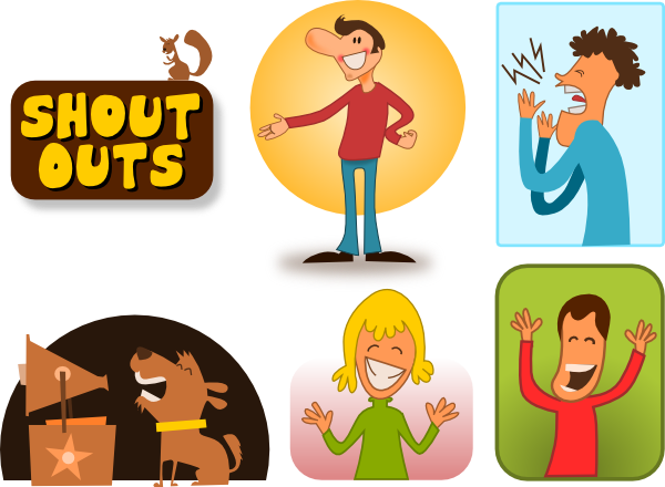 Kablam Shout Outs Clip Art