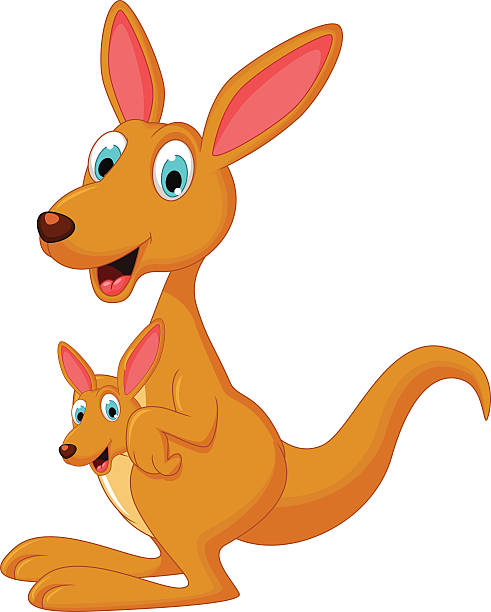 cute kangaroo clipart Clipart Station