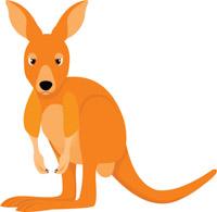 kangaroo clipart. Size: 87 Kb