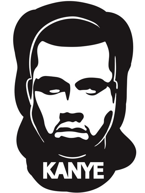 Kanye West Face Art Wall Print POSTER 50*70cm