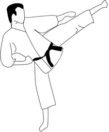 Karate clip art free clipart images