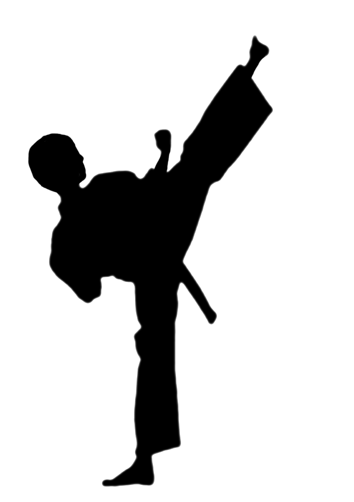 Female karate clipart kid