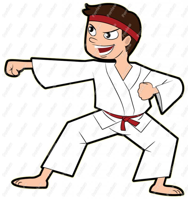 Karate Cartoon Clipart #1