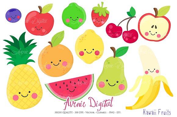 Kawaii Fruits Clipart   ...-Kawaii Fruits Clipart   ...-19