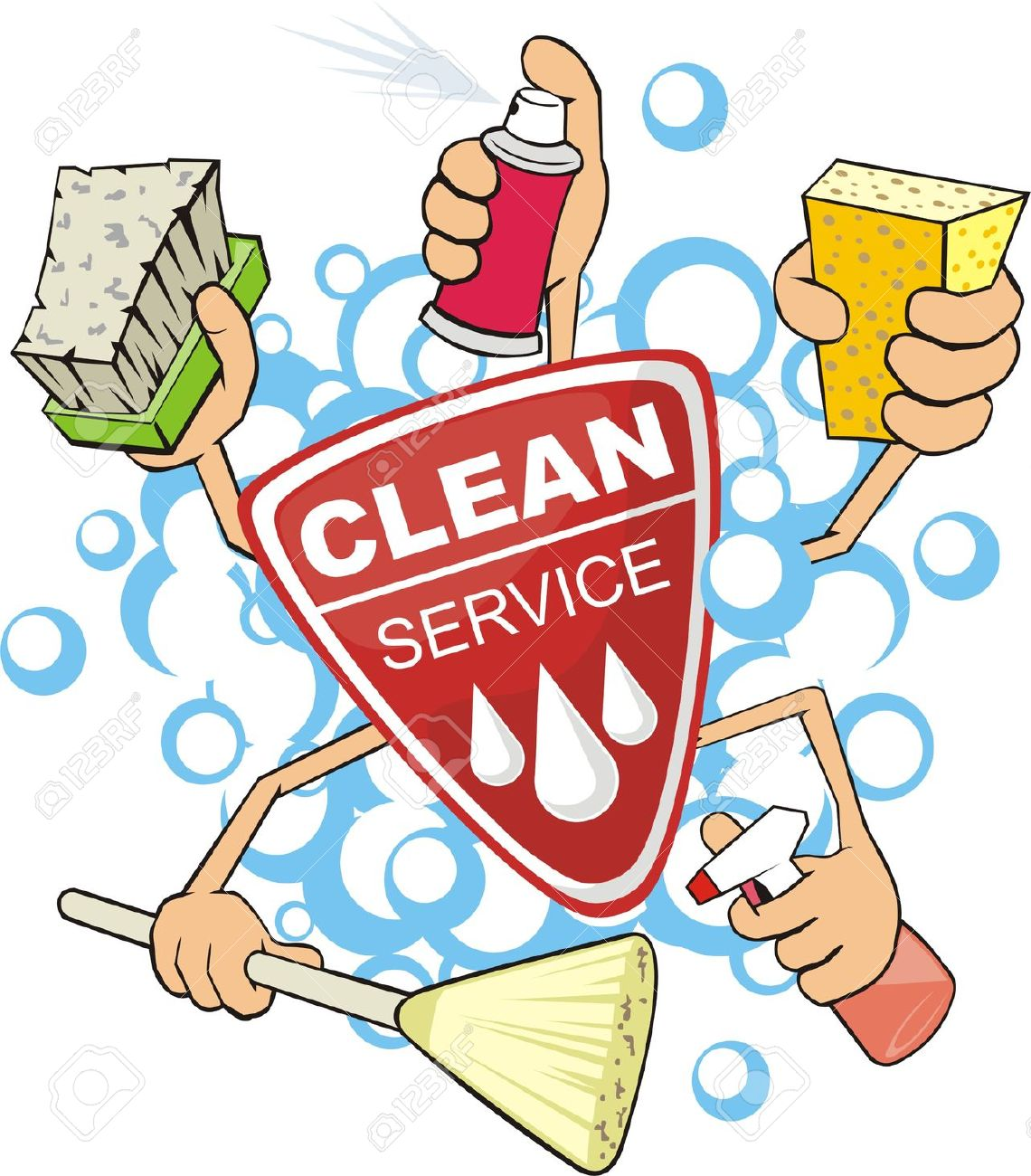 keep clean: sign of the .