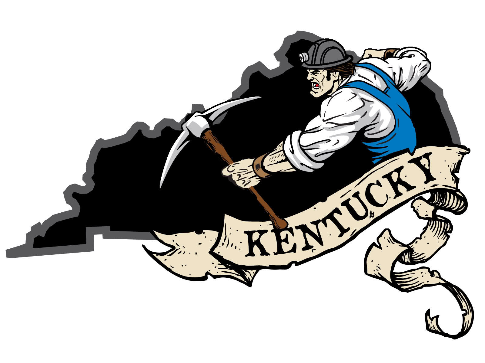 Kentucky Coal Mining Decals / Stickers 2.5