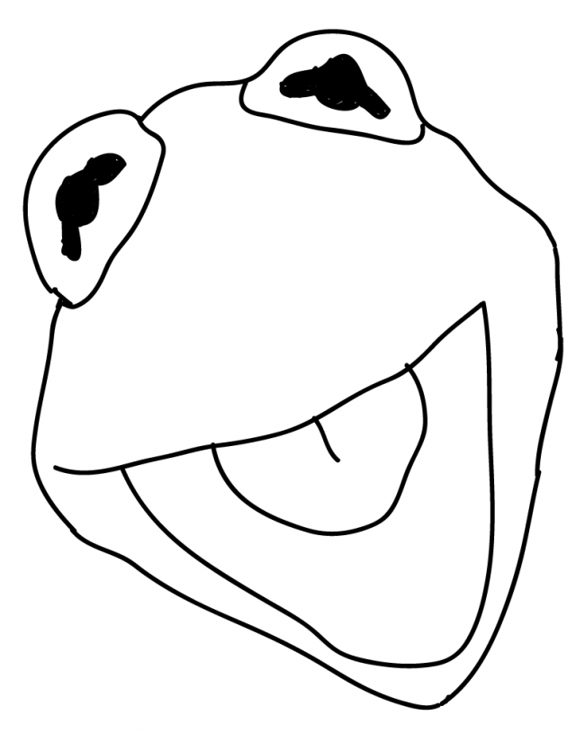 Kermit The Frog Coloring Page - AZ Coloring Pages ...