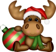 Kerst on moose silhouette store and santa clip art -