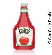 ... Ketchup bottle - illustration of ketchup bottle isolated on... Ketchup  bottle Clip Artby ...