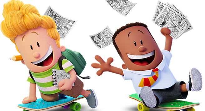 Thomas Middleditch And Kevin Hart Provid-Thomas Middleditch and Kevin Hart provide the voices of Harold and George  in Captain Underpants:-16