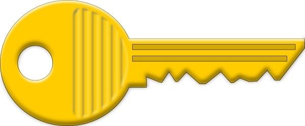 Yellow Key clip art