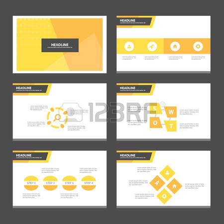 keynote: Abstract orange presentation template Infographic elements flat design set for brochure flyer leaflet marketing