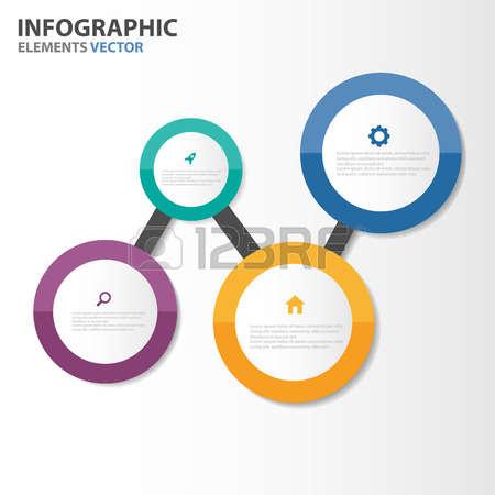 keynote: Circle Infographic elements presentation templates flat design set for brochure flyer leaflet marketing advertising