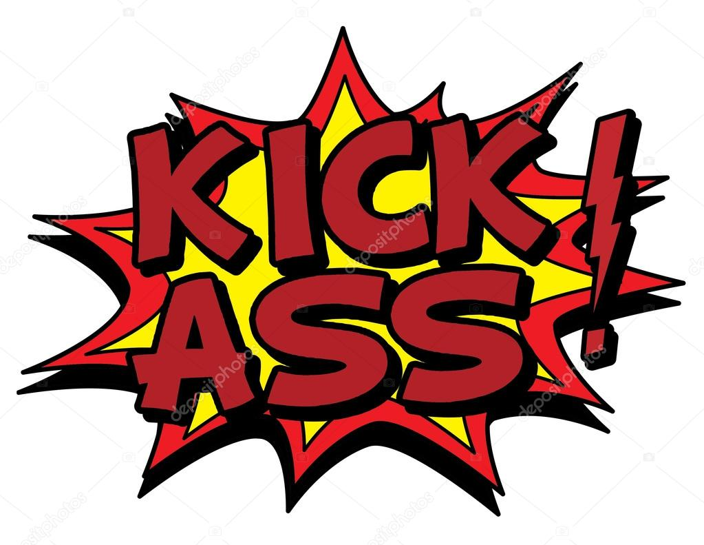 Kick ass sign illustration u2014 Stock Vector