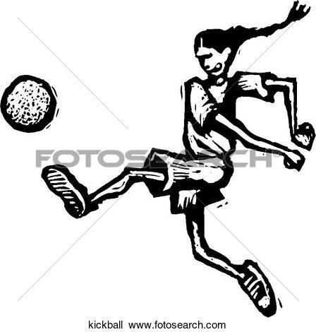 Kickball. Art Parts