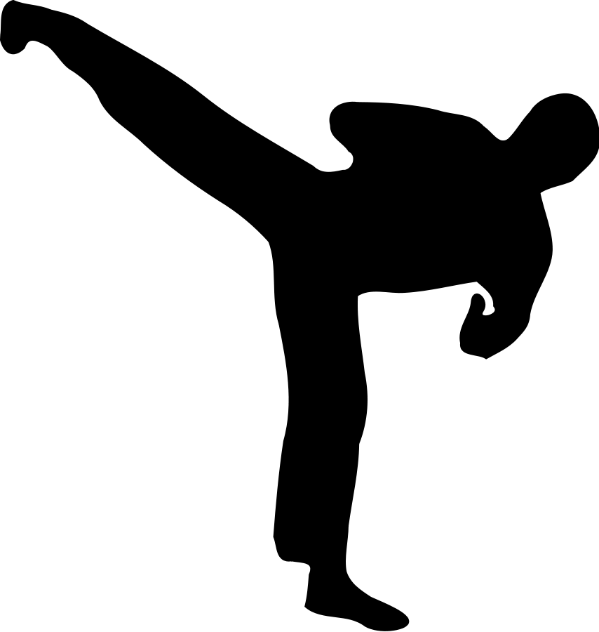 Kickboxer silhouette Clipart, vector cli-Kickboxer silhouette Clipart, vector clip art online, royalty free-11
