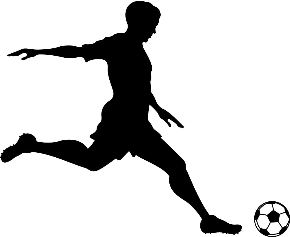 Kicking Soccer Ball Silhouette Clipart Panda Free Clipart Images