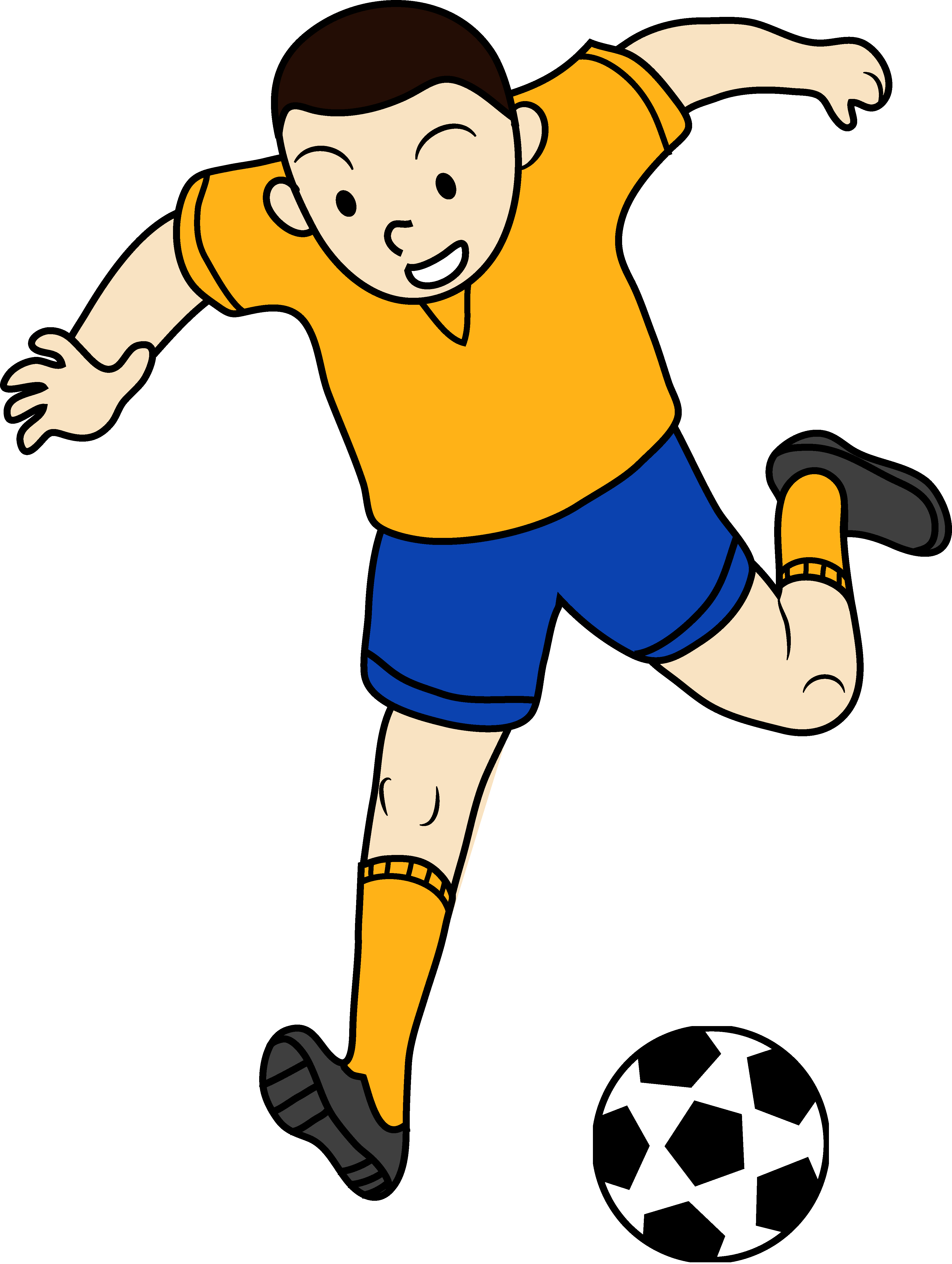 kid football player clipart