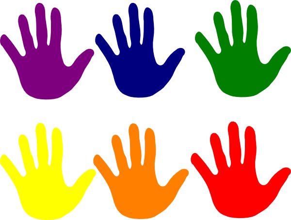 kid handprint clipart