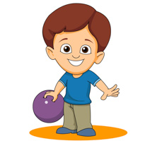 Kid Holding Bowling Ball Size: 109 Kb