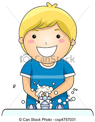 ... Kid Washing Hands - A Young Boy Washing His Hands