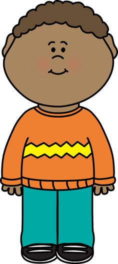 Kid Wearing a Sweater Clip Art - Kid Wearing a Sweater Image