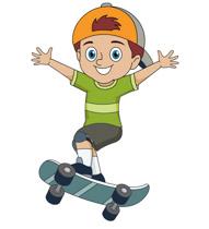 Kid Wearing Baseball Hat Holding Skatebo-Kid Wearing Baseball Hat Holding Skateboard Clipart Size: 76 Kb-6