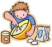 kids cooking images