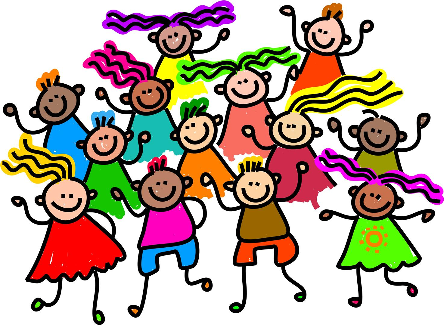 kids dance party clip art