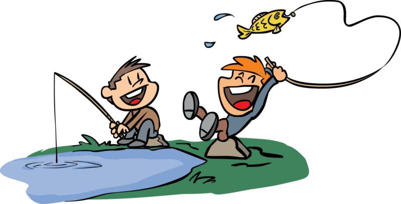 Kids Fishing Clipart-kids fishing clipart-15