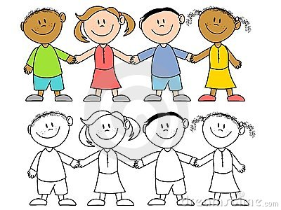 kids hand clipart black and white