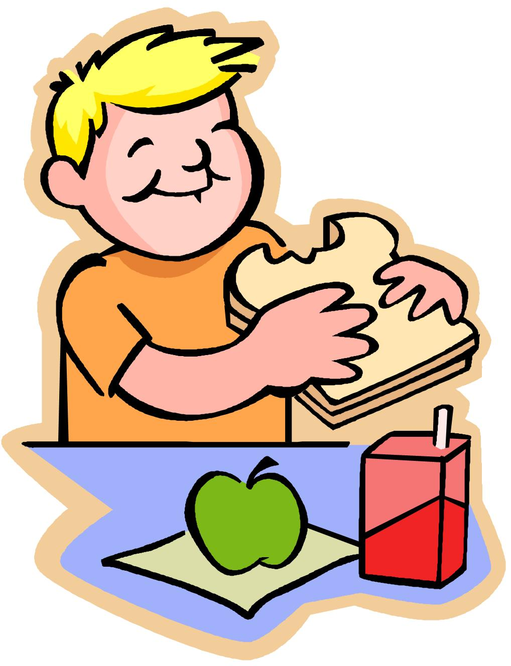 kids lunch clipart