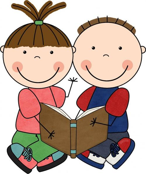 kids reading clip art - Kids Reading Clipart