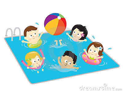 kids swimming clipart - Swimming Pool Clipart