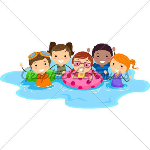 kids swimming pool clipart - Kids Swimming Clipart