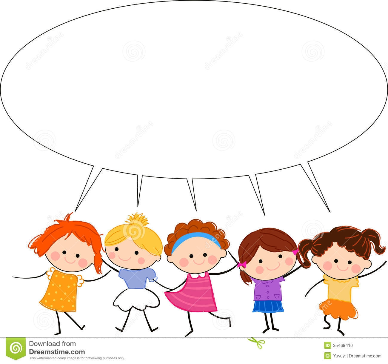 Kids Talking Clipart-kids talking clipart-6