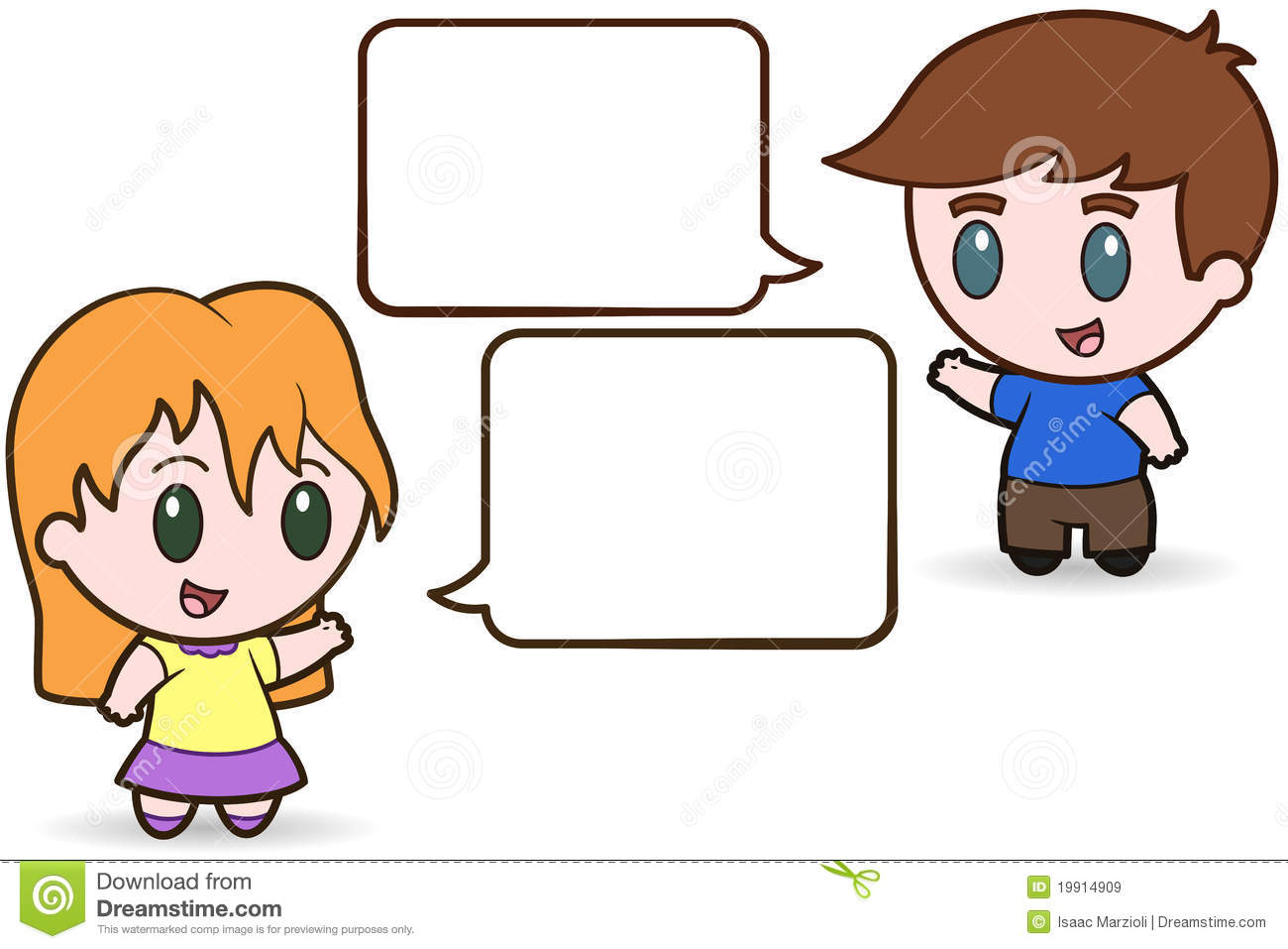Kids Talking Clipart-kids talking clipart-7