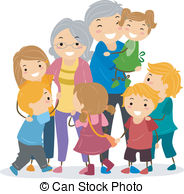 Kids and Their Grandparents - - Grandparents Clip Art