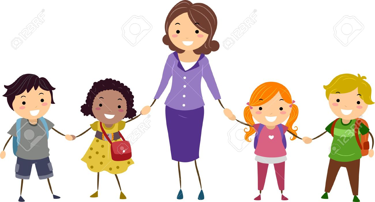 -Kids-and-Their-Teacher-