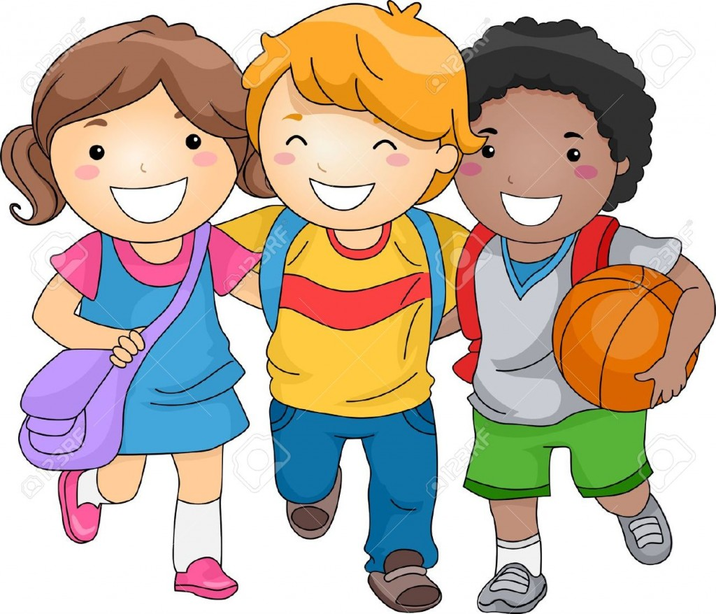 Kids Clip Art. Illustration Of Kid Students .