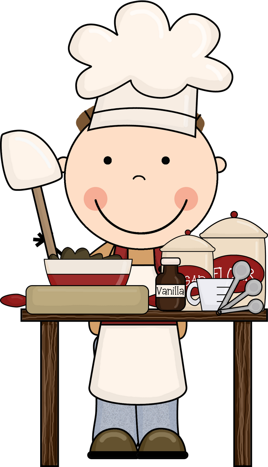 Kids Cooking Clipart Free .-Kids Cooking Clipart Free .-5