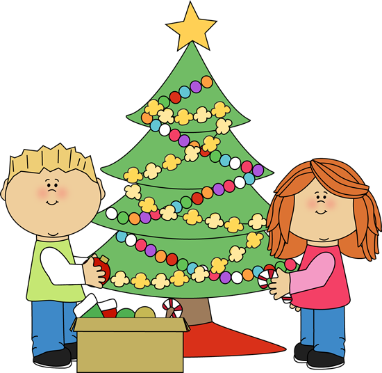 Kids Decorating a Christmas Tree-Kids Decorating a Christmas Tree-16