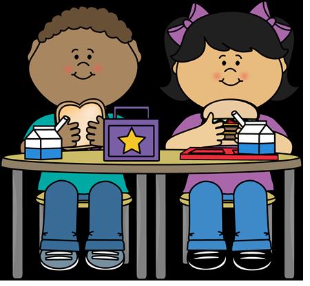 Kids Eating Lunch - Children Eating Clipart